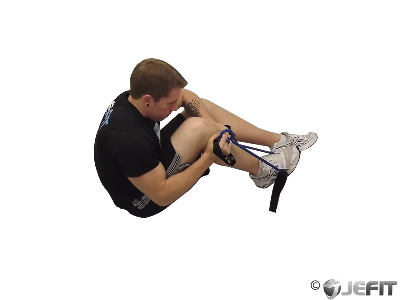 Hip flexor and quad stretch exercise database jefit for Floor quad stretch