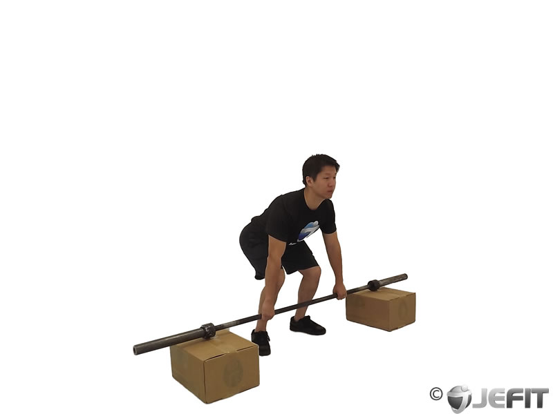 Barbell Snatch from Blocks