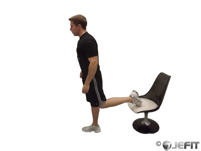 Standing Elevated Quad Stretch