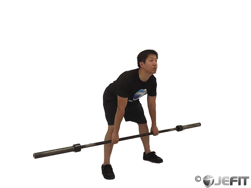 Barbell Wide Stance Stiff Leg Deadlift