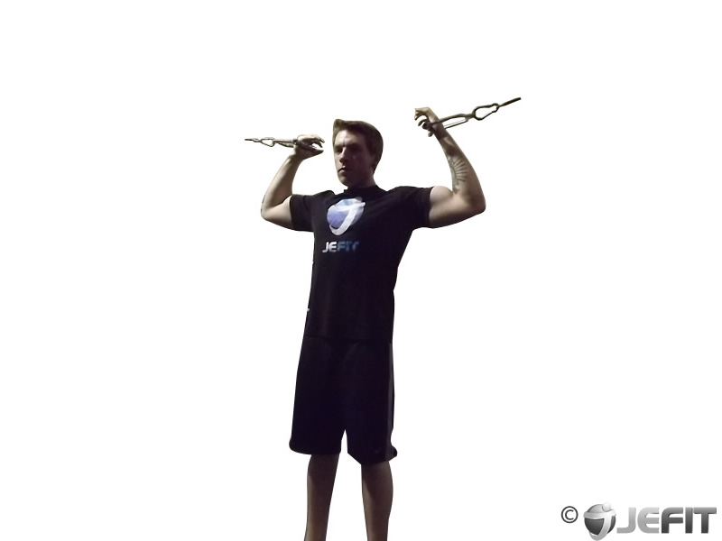 Cable Overhead Curl