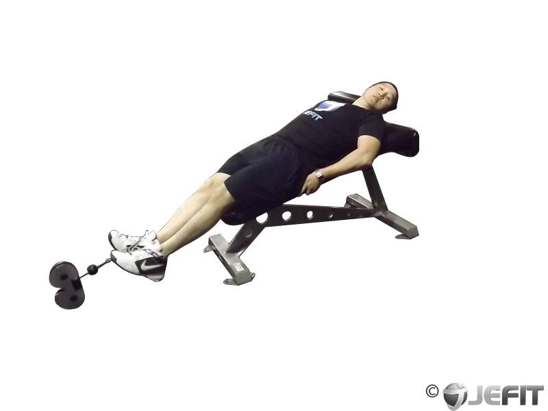 Decline Bench Cable Knee Raise
