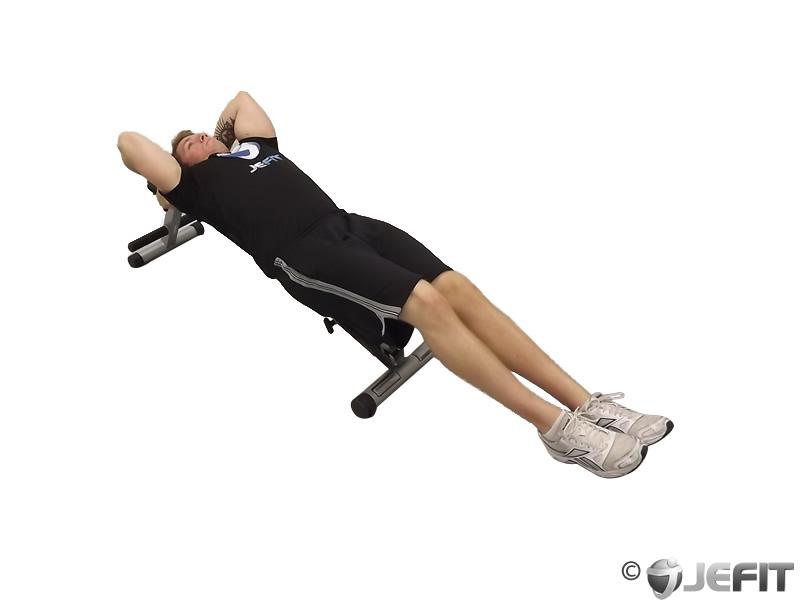Decline Bench Knee Raise Exercise Database Jefit