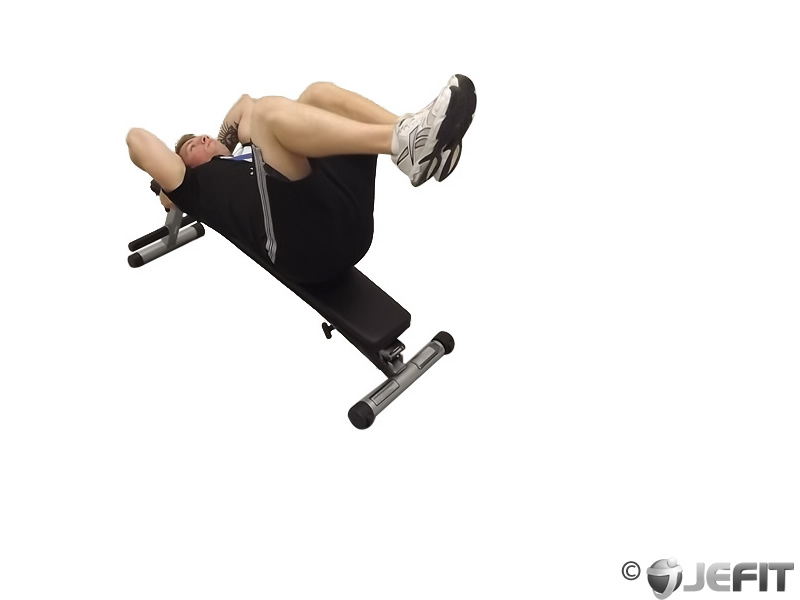 decline bench knee raise