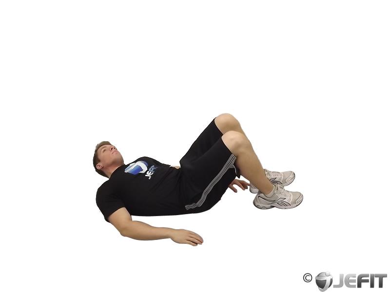 lying heel touches - exercise database