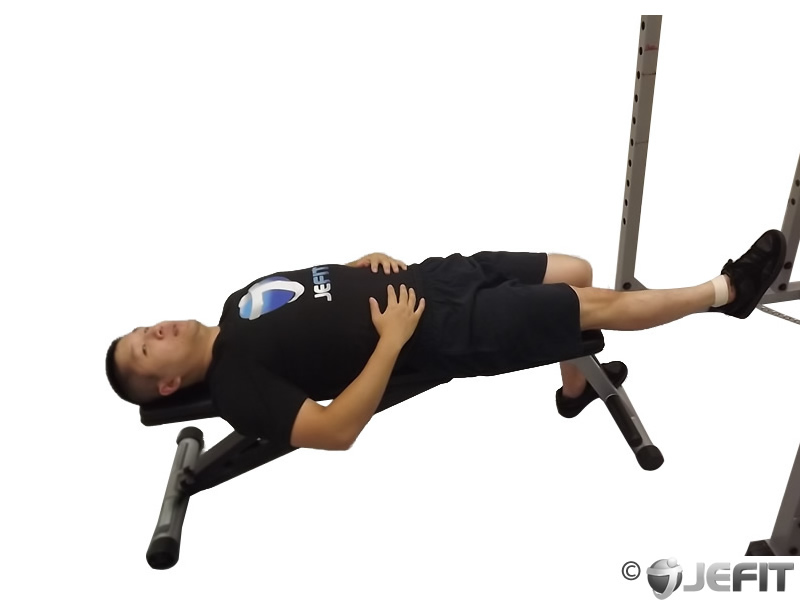 Cable One Leg Lying Knee Raise