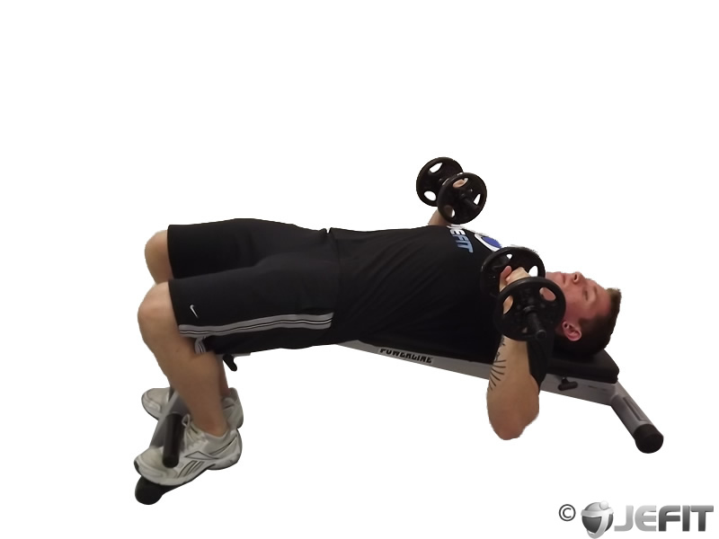 Dumbbell Twisting Decline Sit Up