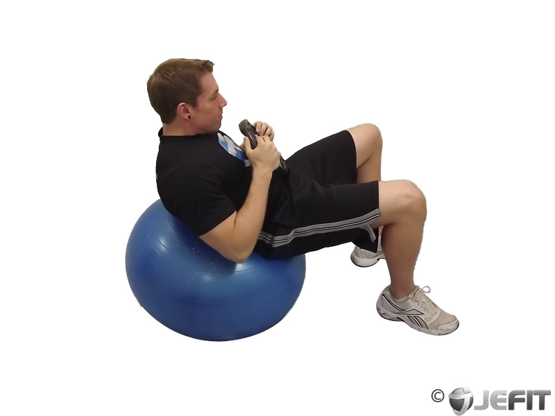 Exercise Ball Weighted Sit Up