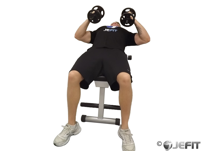 Dumbbell Lying Wide Curl