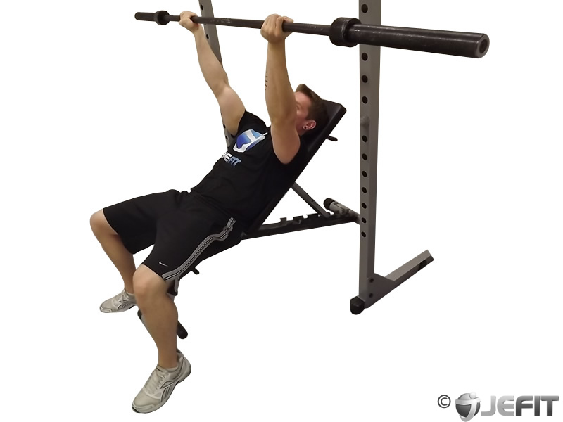 Barbell Reverse Grip Incline Bench Press