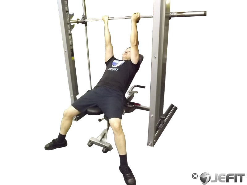 Smith Machine Reverse Grip Incline Bench Press