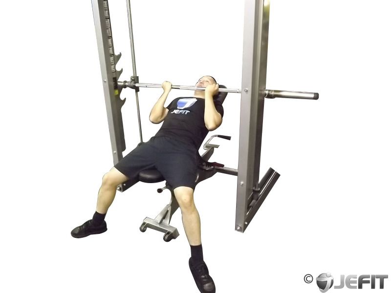 Smith Machine Reverse Grip Incline Bench Press Exercise