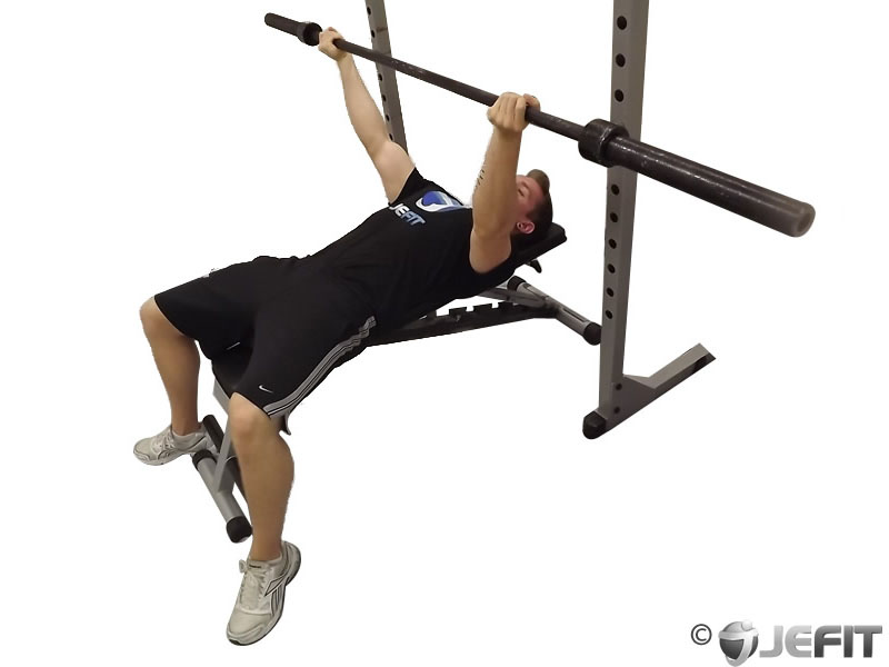 Barbell Wide Reverse Grip Bench Press