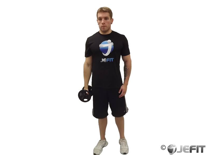 Dumbbell One Arm Standing Front Raise