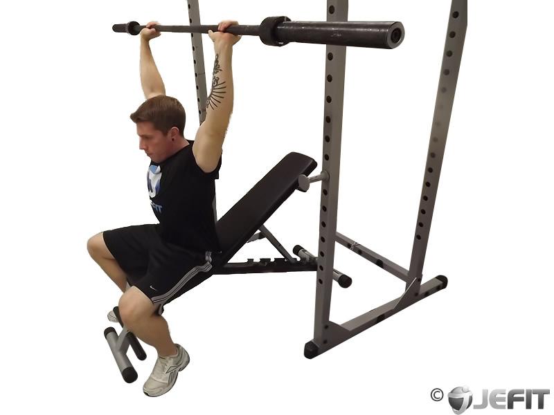Barbell Military Press Behind Neck - Exercise Database | Jefit
