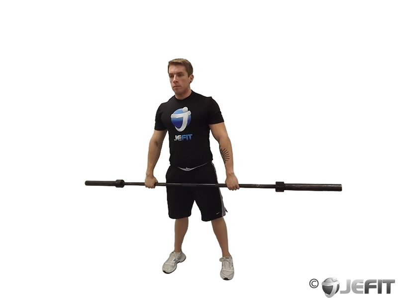Barbell High Front Raise