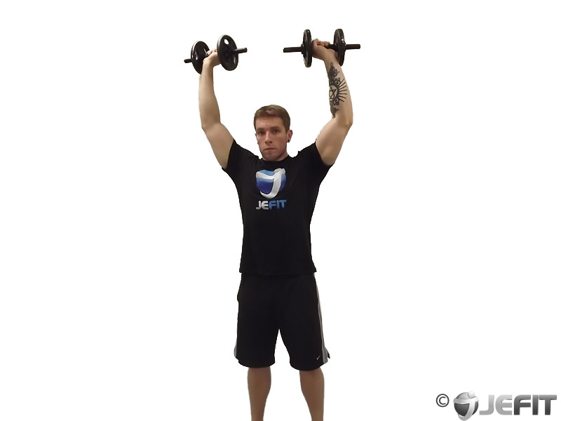 Dumbbell Standing Arnold Press