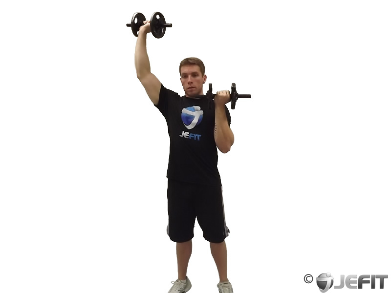 Dumbbell Alternate Standing Arnold Press