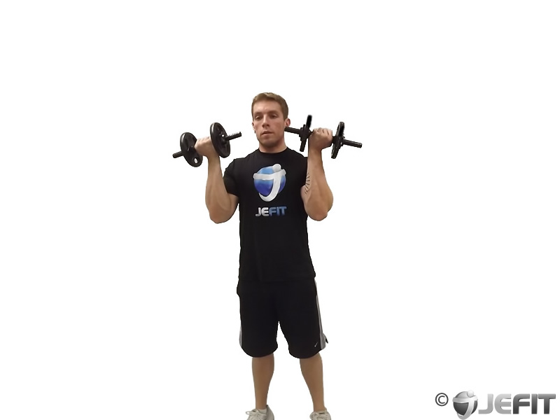 Dumbbell One Arm Standing Arnold Press