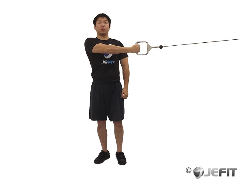 Cable One Arm Reverse Fly