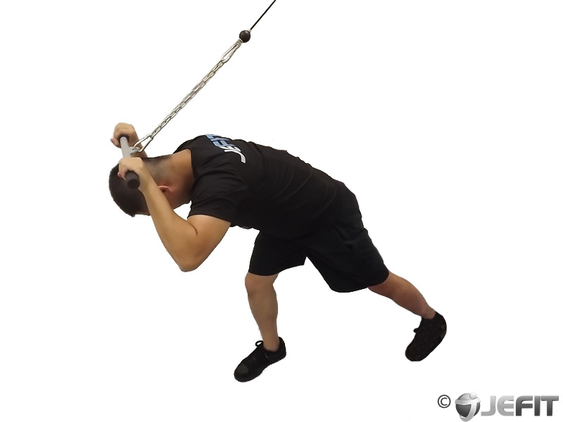 Cable Tricep Extension : Cable high pulley overhead tricep extension exercise