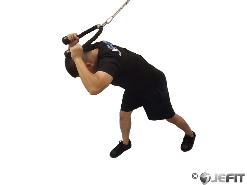 Cable Rope High Pulley Overhead Tricep Extension ...