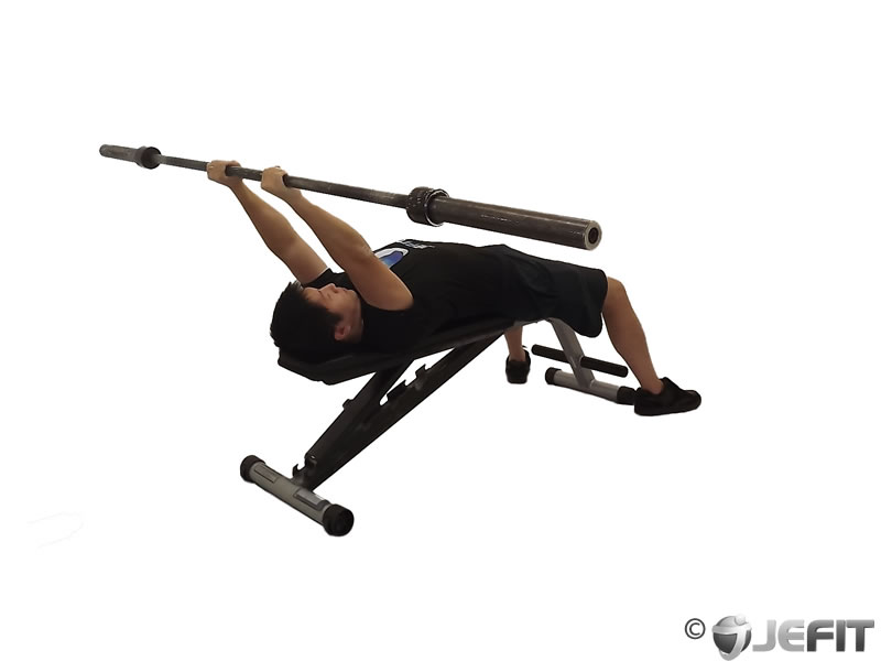 Barbell Lying Reverse Extension