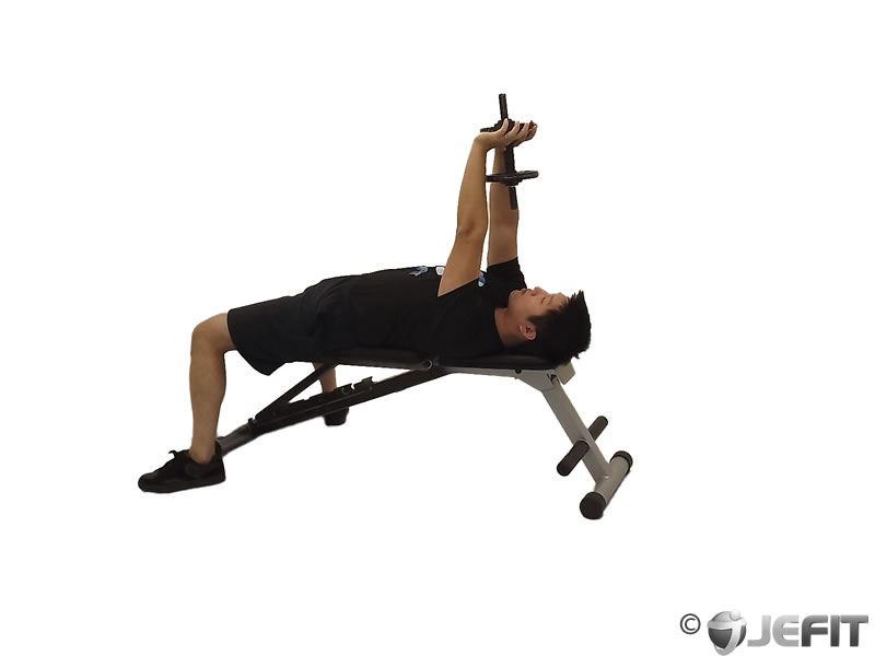 Dumbbell Lying Single Extension
