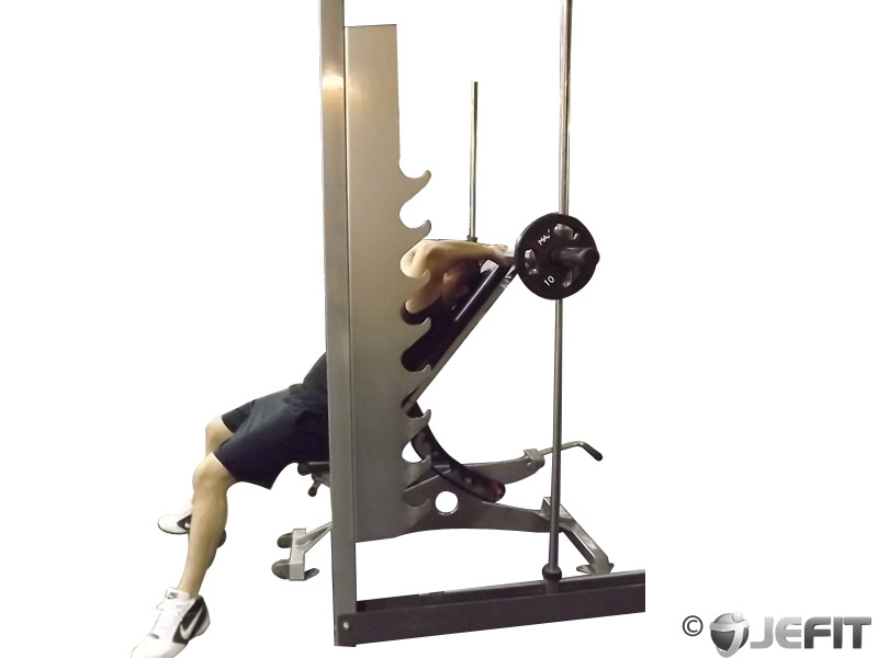 Smith Machine Incline Tricep Extension Exercise Database