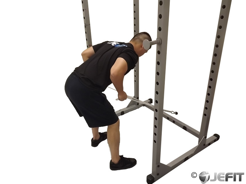 Cable Two Arm Tricep Kickback