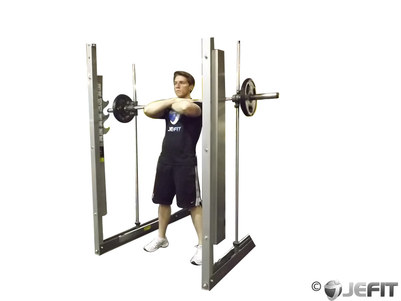 Smith Machine Front Squat - Exercise Database | Jefit ...