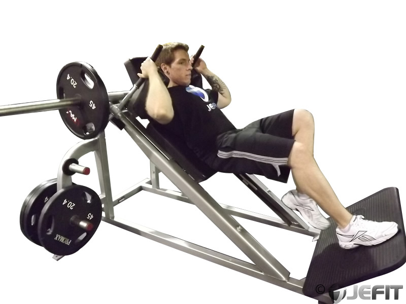 how to use hack squat machine