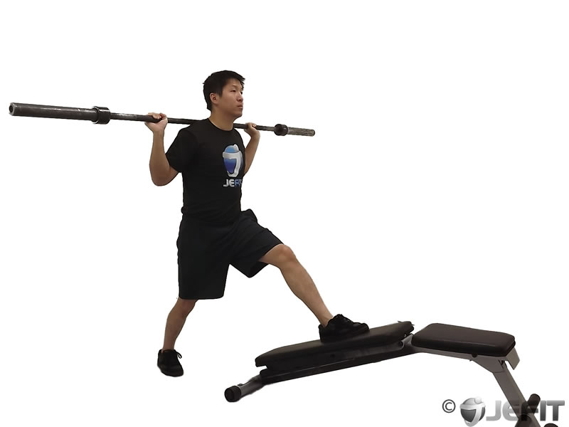 Barbell Decline Bench Lunge