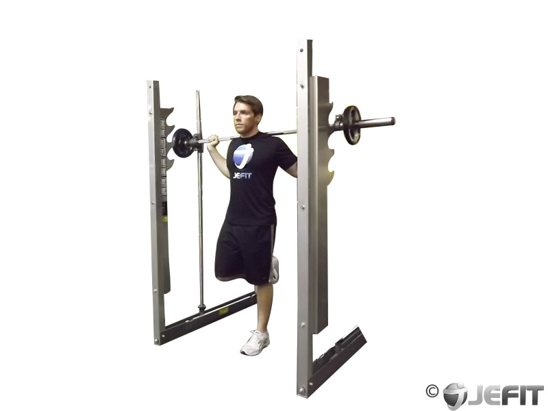 Smith Machine One Leg Calf Raise