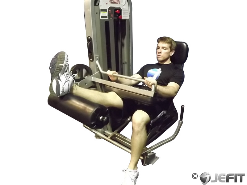 Seated Leg Curl with One Leg