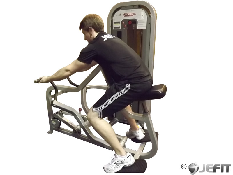 Reverse grip vertical row exercise database jefit for Floor underhand cable fly