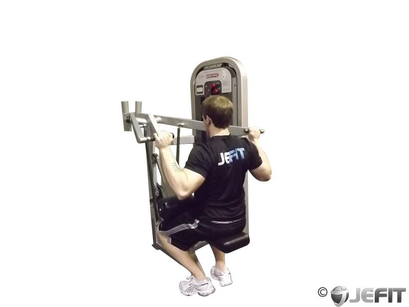 lat workout machine