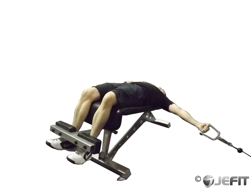 Cable One Arm Decline Chest Fly