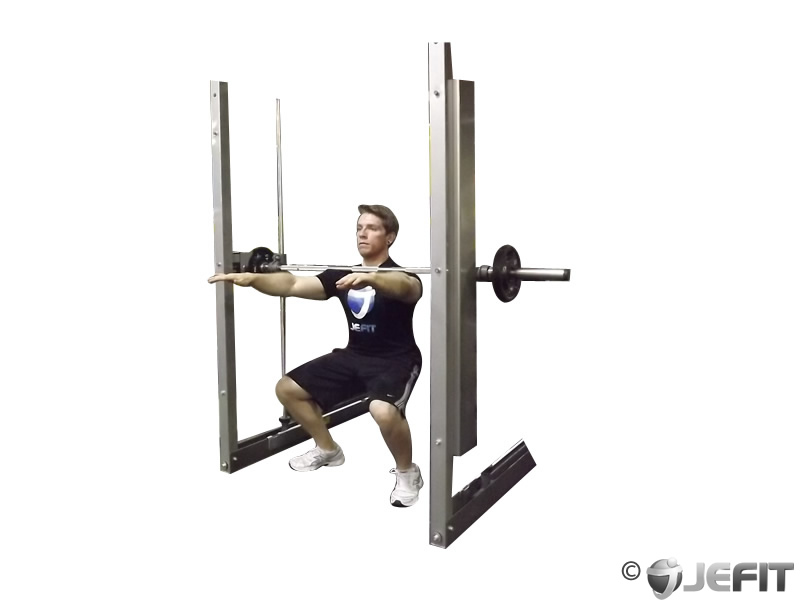 Smith Machine Frankenstein Squat Exercise Database