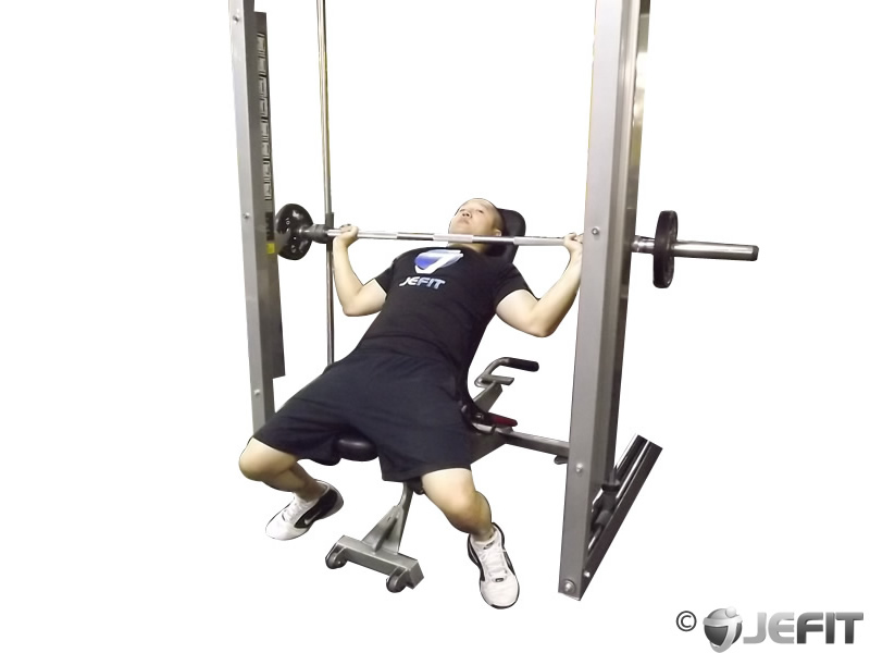 Smith Machine Wide Grip Shoulder Press