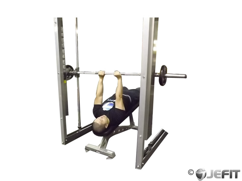 Smith Machine Decline Close Grip Bench Press