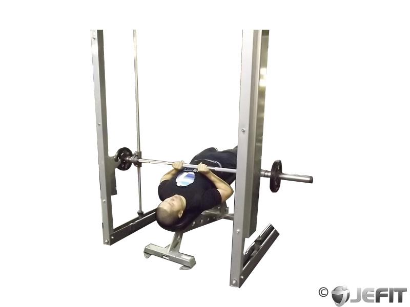 smith machine decline close grip bench press