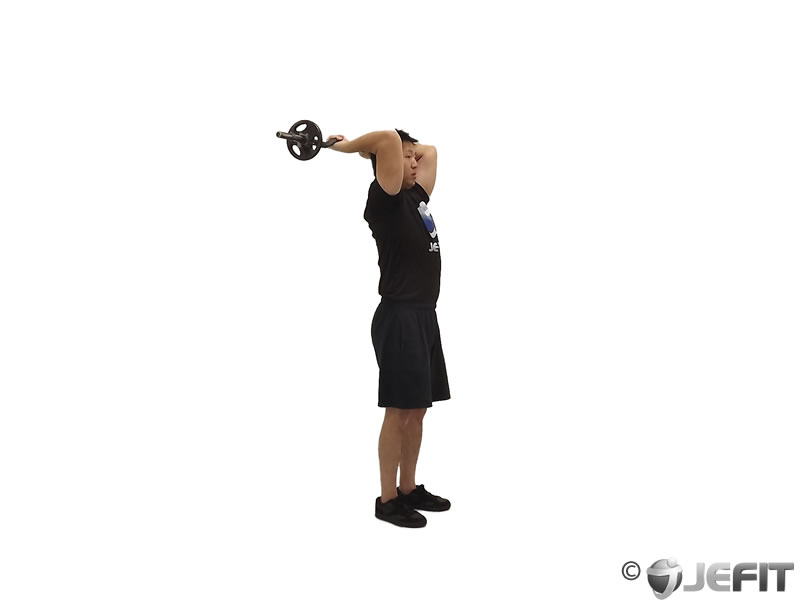Ez Bar Standing French Press Exercise Database Jefit