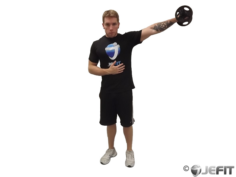 Dumbbell One Arm Standing Lateral Raise
