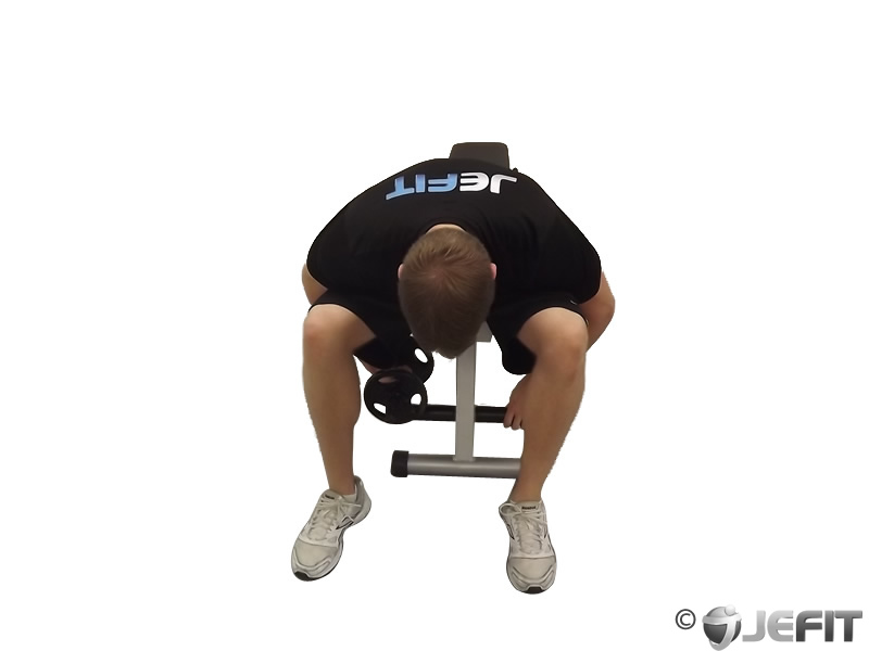 Dumbbell One Arm Seated Bent Over Reverse Fly