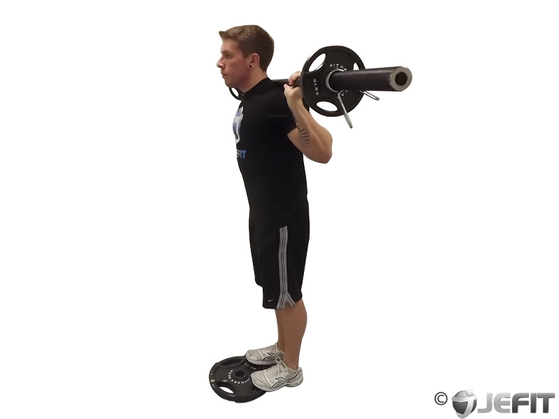 Barbell Standing Calf Raise