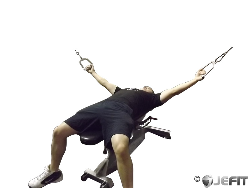 Cable Flat Bench Fly Exercise Database Jefit Best
