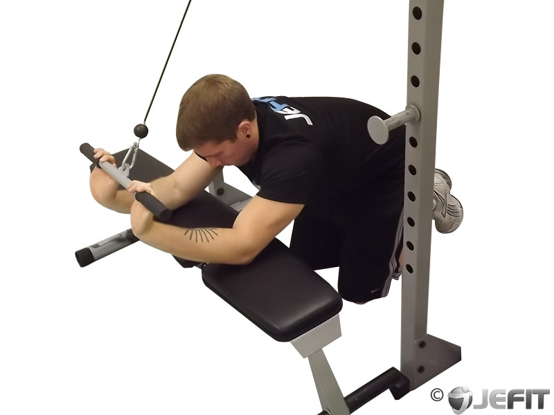 Cable Extensions Workout : Cable kneeling triceps extension exercise database