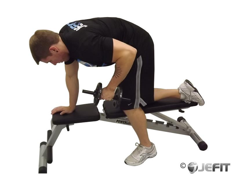 Dumbbell Tricep Kickback - Exercise Database | Jefit - Best