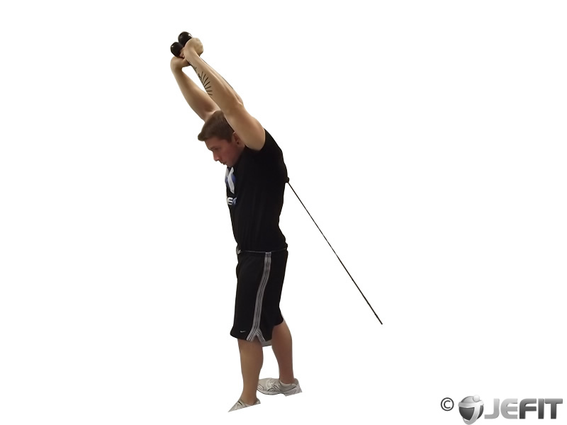 Cable Tricep Extension : Cable rope overhead triceps extension exercise database